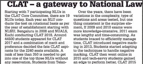 CLAT- A gateway to National law universities – The Times Of India